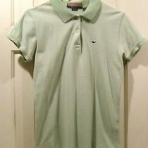 Vineyard Vines Womens Ladies Short Sleeve Polo Shirt Size Medium Green Cotton Photo