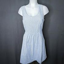 Vineyard Vines Womens Sundress Dress Size 6 Blue Seersucker Fit & Flare Halter Photo