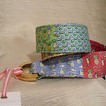 Vineyard Vines Xs Women's Happy Hour Patchwork Multi D-Ring Belt-Msrp 59.50 Photo