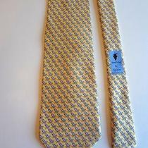 Vineyard Vines - Yellow Beach Chairs Print - 100% Silk Neck Tie - 58
