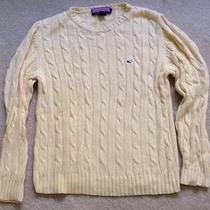 Vineyard Vines Yellow Cable Crewneck Sweater Xl Photo