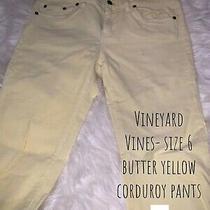Vineyard Vines Yellow Corduroy Pants Size 6  Photo