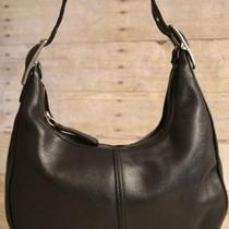 Vintage 100% Authentic Black Genuine Leather Hobo Handbag Photo