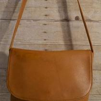 Vintage 100% Authentic Camel Tan Genuine Leather Cross Body Handbag Photo