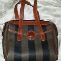 Vintage 100% Authentic Fendi Pvc Hand Bag Wrist Photo