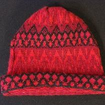 Vintage 100% Scandanavian Lambs Wool Red Ski Hat Made in Sweden Photo