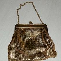Vintage 1930s Whiting &davis Mesh Gold Bag Cocktail Evening Wristlet Purse W/box Photo