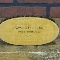 Vintage 1940 Shoe Shine Brush Pure Bristle Photo