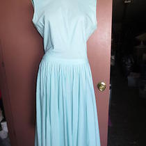 Vintage 1950's Aqua Blue Sleeveless Swing Dress Mad Men Rockabilly Xl Photo