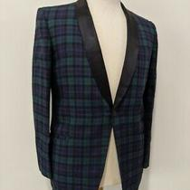 Vintage 1950's Men's Shawl Collar Black Watch Campbell Tartan Tuxedo Jacket Photo