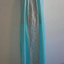 Vintage 1950's - Sky Blue / Aqua  & Lace Deco Nitegown - Mad Men - Avian -  Photo