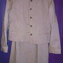 Vintage 1950's Striped Skirt Suit by Margaret Godfrey for Bagatelle Size S Photo