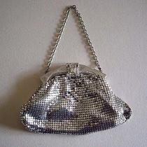 Vintage 1950's Whiting & Davis Co. Mesh Clutch Purse Evening Bag in Original Box Photo