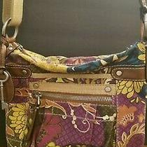 Vintage 1954 Fossil Key-Per Floral Canvas Tote Purse Handbag Crossbody Bag Photo