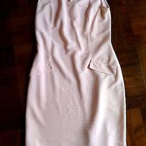 Vintage 1960 Mod Audrey Hepburn Tiffany's Pink Wiggle Pencil Dress Pinup M L 10 Photo