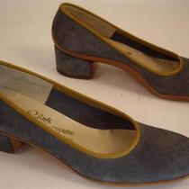 Vintage 1960 Rosina Ferragamo Schiavone Blue Suede Leather Pumps 7 Aaa Nwb Photo