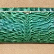 Vintage 1960's Authentic Gucci Rare Green Lizard Box Clutch Evening Bag Photo