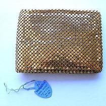 Vintage 1960s 70s Whiting & Davis Mesh Mates Gold Wallet Never Used Photo