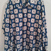 Vintage 1970's 80's - Givenchy Polyester Geometric Print Shirt - Large -  Photo