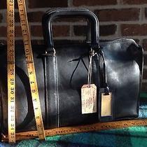 Vintage 1970s Black Coach Baseball Glove Leather Briefcase Bag R648 Photo