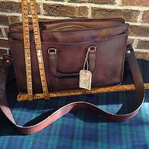 Vintage 1970's Distressed Coach Baseball Glove Leather Briefcase Bag R648 Photo