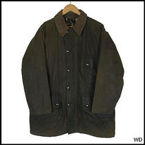 Vintage 1970s Barbour Solway Zipper Country Wax Jacket Coat 1 Crest 42 Large Photo