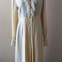 Vintage 1970s Karl Lagerfeld for Chloe Edwardian Style Dress Ruffled See Details Photo
