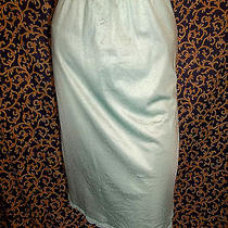 Vintage 1970s Nylon Satiny Aqua Givenchy Underedressings Half Slip Lingerie S Photo