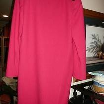 Vintage 1970s Oscar De La Renta Pink Coat Dress With Large Gold Buttons Size 6 Photo