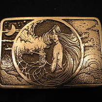 Vintage 1980's Mother Earth Belt Buckle Photo