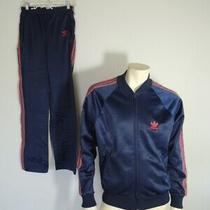 Vintage 1980s Adidas Atp Trefoil Pants and Jacket Tracksuit Navy Size Medium Photo