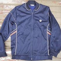 Vintage 1980s Asics Lawnship Warm Up Trainer Vest Retro Track Jacket Nylon M L Photo