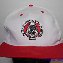 Vintage 1980s North American Refractories Indian Chief Advertising Snapback Hat Photo