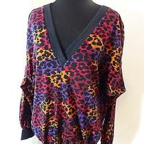Vintage 1980s Ysl Yves Saint Laurent Plage Designer Leopard Print Sweater Rare Photo