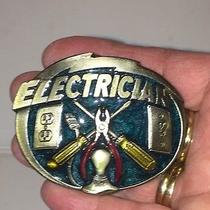 Vintage 1981 the Great American Belt Buckle Co. Electrician 862 Photo