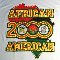 Vintage 1990 Afrocentric T-Shirt Black African American Pride Map Hip Hop Rap Photo
