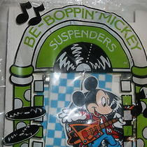 Vintage 1990 Mickey Suspenders ( Be- Boppin Mickey by Avon ) the Walt Disney Co Photo