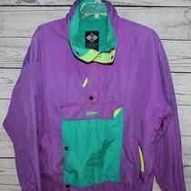 Vintage 1990's Columbia Radial Sleeve Nylon Ski Neon Powder Jacket Sz. Medium Photo