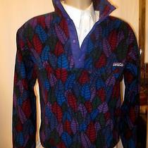 Vintage 1990's Patagonia Men's Aztec Tribal Snap-T Pullover Fleece Jacket Sz M Photo