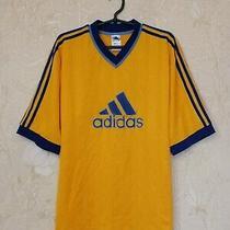 Vintage 1990's Shirt Jersey Adidas Original Big Logo Yellow Size Xl Photo