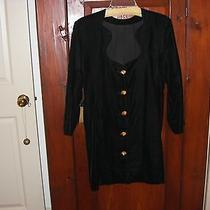 Vintage 1990's Yves St. Laurent Black Velvet Cocktail Dress 6  Photo