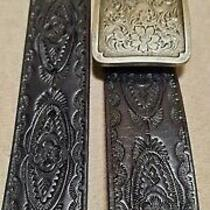 Vintage 1995 Fossil Genuine Leather Women's Belt Size M Photo