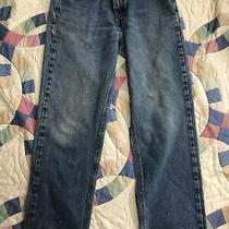 Vintage  34x32 Carhartt Blue Jeans Faded Worn Workwear 100% Cotton Relaxed Fit Photo