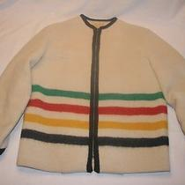 Vintage 40s Hudson's Bay Canada Wool Striped Point Blanket Jacket Women's L Photo
