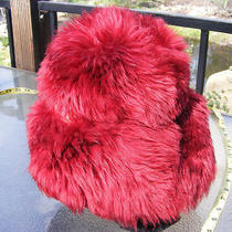 Vintage 50's Hat Mr D Dyed Tuscan Lamb Fur Red Made in Italy  Photo