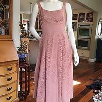 Vintage 50s 60s Mocha Blush Lace Dress Photo
