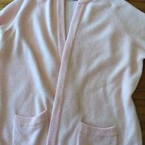 Vintage 60's Hadley Blush Pink Cashmere Souffle 6-8 Ply Cardigan Sweater Sz 40 M Photo