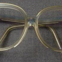 Vintage 70's Authentic Balenciaga Blue Violet & Clear Sunglasses Frame Photo