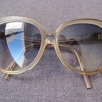 Vintage 70's Authentic Balenciaga Blue Violet & Clear Sunglasses  Photo