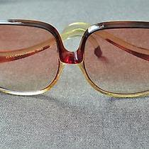 Vintage 70's Oversized Authentic Balenciaga Brown & Clear Sunglasses  Photo